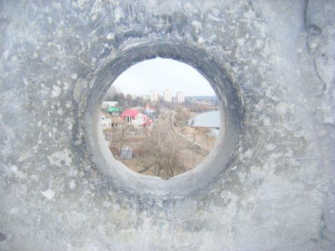 Il Nistru visto dall'interno della fortezza di Soroca