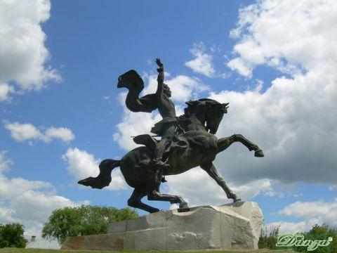La statua di A. Suvorov a Tiraspol